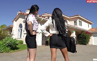 Minus FFM threesome with Asian stars Ember Snow added to Tire Kush