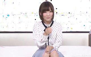 Sexy Japanese chick Sakura Kizuna opens her legs for three dicks