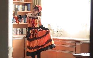 Horny singular Japanese girl Fukada Eimi enjoys carrying-on with toys