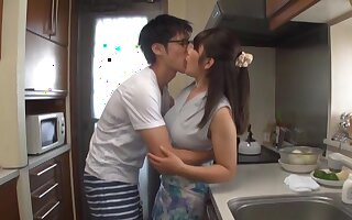 Quickie screwing in the kitchenette helter-skelter horny room-mate Kawaguchi Hasumi