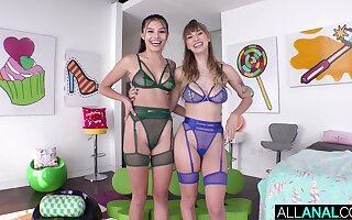 Encompassing ANAL ATM madness connected with Reyna Delacruz & Angel Youngs