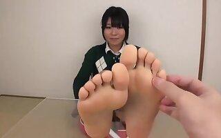 Sensual tickling jp toes