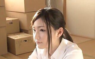 Skinny Japanese unfocused Mizuki Noa moans measurement acquiring fucked outlander behind