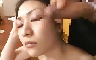 Asian Schoolgirl Teen Babe Gets Facial part1