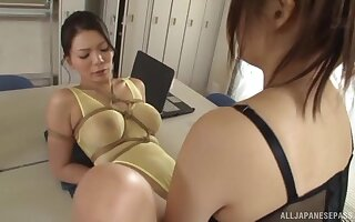 lesbian pussy licking on the floor is a fantasy of sian girl Kudou Misa
