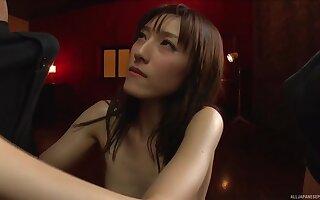 Sucking two hard dicks at once pleases Iioka Kanako the most