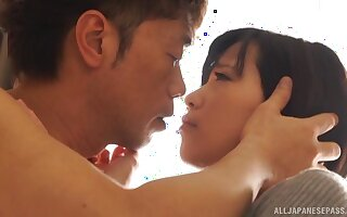 Balls deep mouth and pussy fucking makes a Japanese babe cum