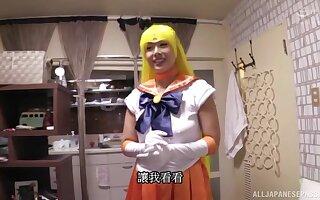 Costumed chick Morishita Mio has amazing fucking skills and likes facial