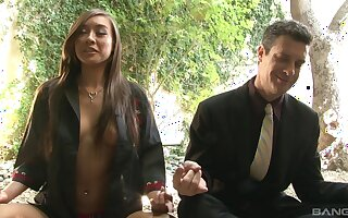 Sexy Ariel Rose gets fucked by a stiff penis while she moans