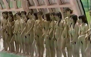 japanese naked girls swimming game show