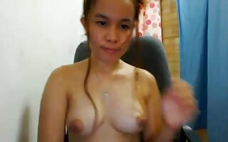 cute filipina web camera hotty shows off her priceless billibongs!!