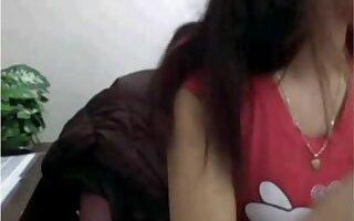 asian sweetheart masturbates on web camera at work while boss is away !