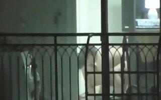 Voyeur captures the asian neighbors having sex in their apartment