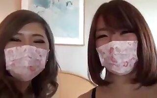 Duo japan lesbian filming