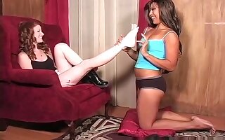 Amazing Amateur record with Brunette, Foot Fetish scenes