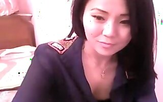 Flirty Asian chick gets off on being filmed while in her sh