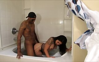 Asian Tied up and Then Fucked in a Jacuzzi