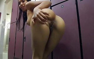 Masturbating In The Public Gym Locker Room